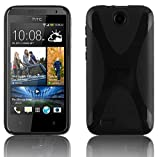 Cadorabo ! X-TPU Bumper Silicon cover for HTC Desire 300 in black