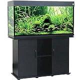 Delta Queen Collection Rectangular Aquarium and Stand, Black, 75-Gallon