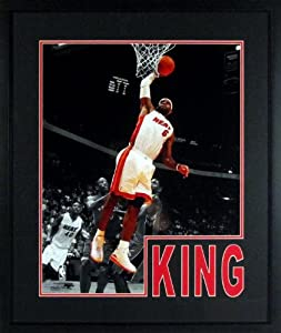 Miami Heat LeBron James Spotlight 16x20 Photograph (SGA Impact Series) Framed by Sports Gallery Authenticated