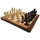 "Hand Made Wooden Chess Board 16""x16"" Folding With 4"" Chess Set Of Ebony - B00UTFZ7NQ"