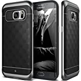 Galaxy S7 Edge Case, Caseology® [Parallax Series] Textured Pattern Grip Case [Black] [Shock Proof] for Samsung Galaxy S7 Edge (2016) - Black