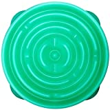 Kyjen 2870 Slo-Bowl Slow Feeder Slow Feed Interactive Bloat Stop Dog Bowl, Large, Caribbean Blue Drop