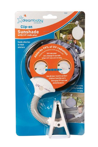 Dreambaby Clip On Sun Shade With Uv Indicator front-106550
