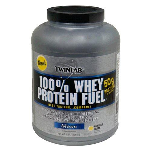 Twinlab 100% Whey Protein Fuel, Vanilla Slam, 5 Pound