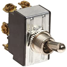 Morris Products 70290 Toggle Switch, Momentary, DPDT On-Off-(On)