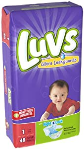 Luvs with Ultra Leakguards, Size 1 Diapers - 48 Ea, 2 Pack