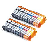 20 Pack Compatible Canon CLI-226 , PGI-225 4 Small Black, 4 Cyan, 4 Magenta, 4 Yellow, 4 Big Black for use with...