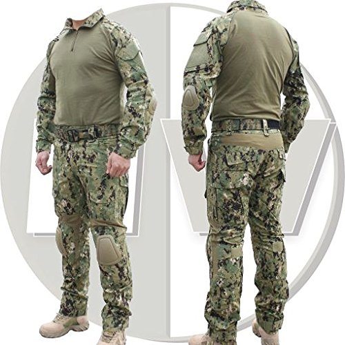 AIRSOFT EMERSON GEN 2 COMBAT SET TROUSERS UBACS AOR2 KNEE + ELBOW PADS 36