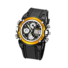 buy Ecoopro® Men'S Bbd-Ak7110Y Yellow-Tone And Black Rubber Strap Analog-Digital Sport Watch