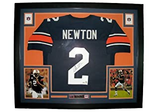 Cam Newton Framed Autographed Auburn Tigers Jersey
