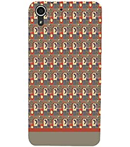 PrintDhaba Sun Moon Pattern D-1495 Back Case Cover for HTC DESIRE 728 (Multi-Coloured)