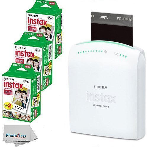 Fujifilm-Instax-Share-Smartphone-Portable-Printer-SP-1-With-Fujifilm-Instax-Mini-Instant-Film-60-Sheets-International-Version-No-Warranty