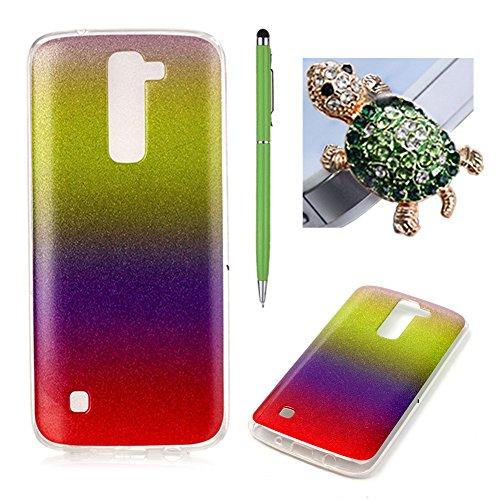 Coque LG K7/K8 - SKYXD Brilliant Bling Glitter Sparkle Shiny Paillette Ultra Mince Housse Etui Premium Gel Silicone TPU Souple Caoutchouc Bumper Case