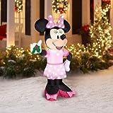Gemmy Disney 5ft Christmas Airblown Inflatable Minnie Mouse Holding Mistletoe