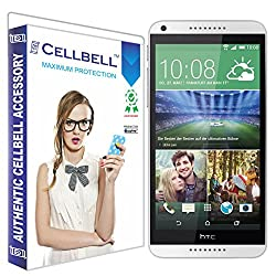 Cellbell Premium Tempered Glass Screen Protector for HTC Desire 816 (2.5D Curved Edges)(Clear)(Comes with Warranty)Complimentary Prep cloth-Bronze Edition
