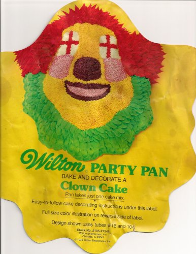 Wilton Cake Pan: Party Clown/Bozo (502-275, 1974)