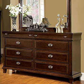 Chatham Transitional Style Brown Cherry Finish Bedroom Dresser