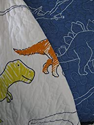 Max Studio Kids Reversible Dinosaur Quilt Full/Queen