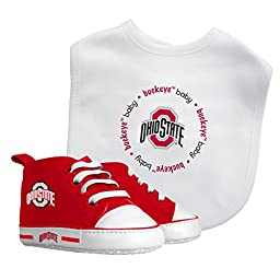 Baby Fanatic Bib and PreWalker Set, Ohio State University Buckeyes