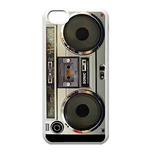 Nostalgic Boombox Vintage Hd Phone Case For Iphone 5C Case (White)