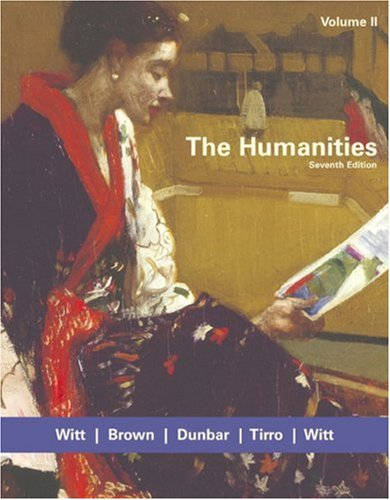 The Humanities, Volume II
