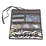 Household Essentials Travel Jewelry Roll, Zebra Print