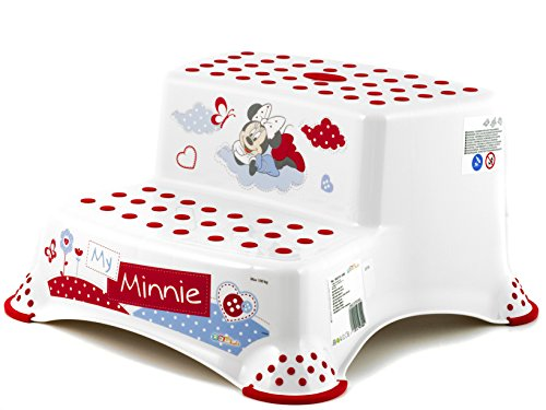 OKT Disney Minnie Sgabello Baby 2 Gradini, Bianco