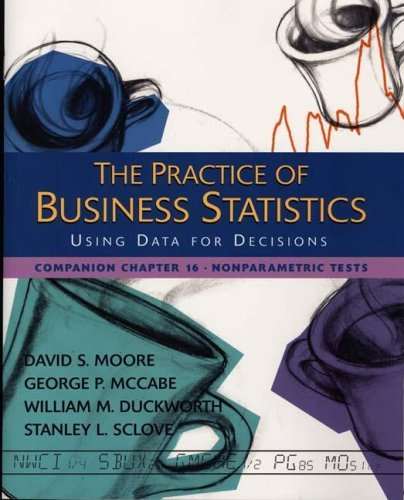 The Practice of Business Statistics Companion Chapter 16: Nonparametric Tests