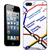 Close Up Tube Map Leicester Square, London Hard Case Clip On Back Cover For Apple iPhone 5S