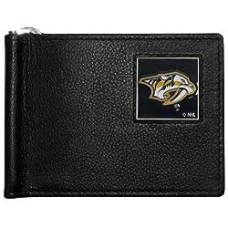 NHL Nashville Predators Leather Bill Clip Wallet