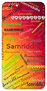 Samriddhi (Prosperity) Name & Sign Printed All over customize & Personalized!! Protective back cover for your Smart Phone : Moto G-4-PLAY