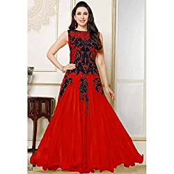 Riti Riwaz Red Net Gown BWR032