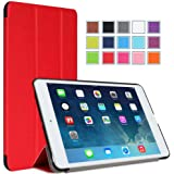 MoKo Ultra Slim Smart shell Cover Case for Mini 3 (2014 Edition with Touch ID), Mini 2 (2013 Model with Retina Display) and Mini (2012 1st Gen), RED (Will not fit iPad Mini 4)