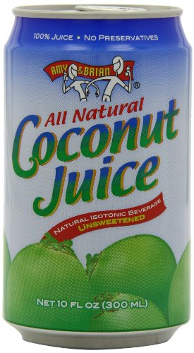 Amy & Brian Natural Coconut Juice Unsweetened, 10- Ounce Tins (Pack of 24) by Amy & Brian