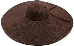 San Diego Women\'s Ultrabraid X Large Brim Hat,Chocolate,One Size
