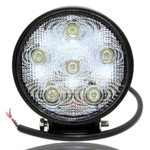 Round 18Watt Led Work Light Lamp - Off Road Led Driving Light For Atv, Utv, Suv, Jeep, 4X4, Truck, Tractor, Boat - Orl-21