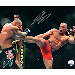 Georges St-Pierre Autographed 16X20 Photo (w/Alves)