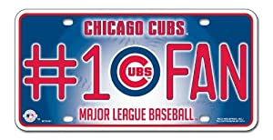 Chicago Cubs '#1 Cubs Fan' Metal License Plate by Rico Tag