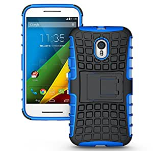 Motorola Moto G 3rd Gen Case Cover Accessories - Tough Rugged Dual Layer Protective Case with Kickstand For Motorola Moto G3 (3rd Generation, 2015) - Blue