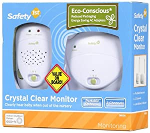 Safety 1st Crystal Clear Baby Monitor, White (Discontinued by Manufacturer)