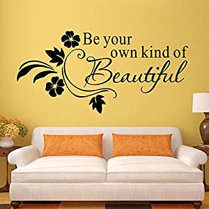 """Be your own kind of beautiful"" Wallpapers for Girls' Dressing Room Decoration from Mustbe"