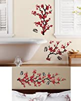 Asian Cherry Blossom Removable Wall Decals By Collections Etc from Collections Etc