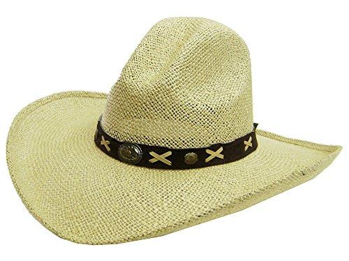 modestone-mens-large-brim-straw-cappello-cowboy-l-tan