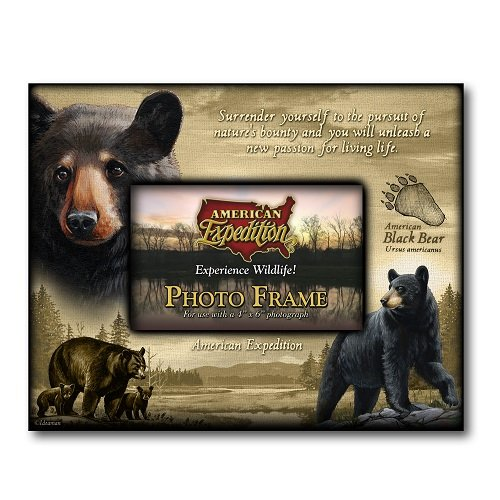 American Expedition Bear Canvas Photo Frame