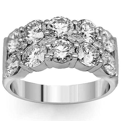 14K White Gold Womens Diamond Wedding Band 4.27