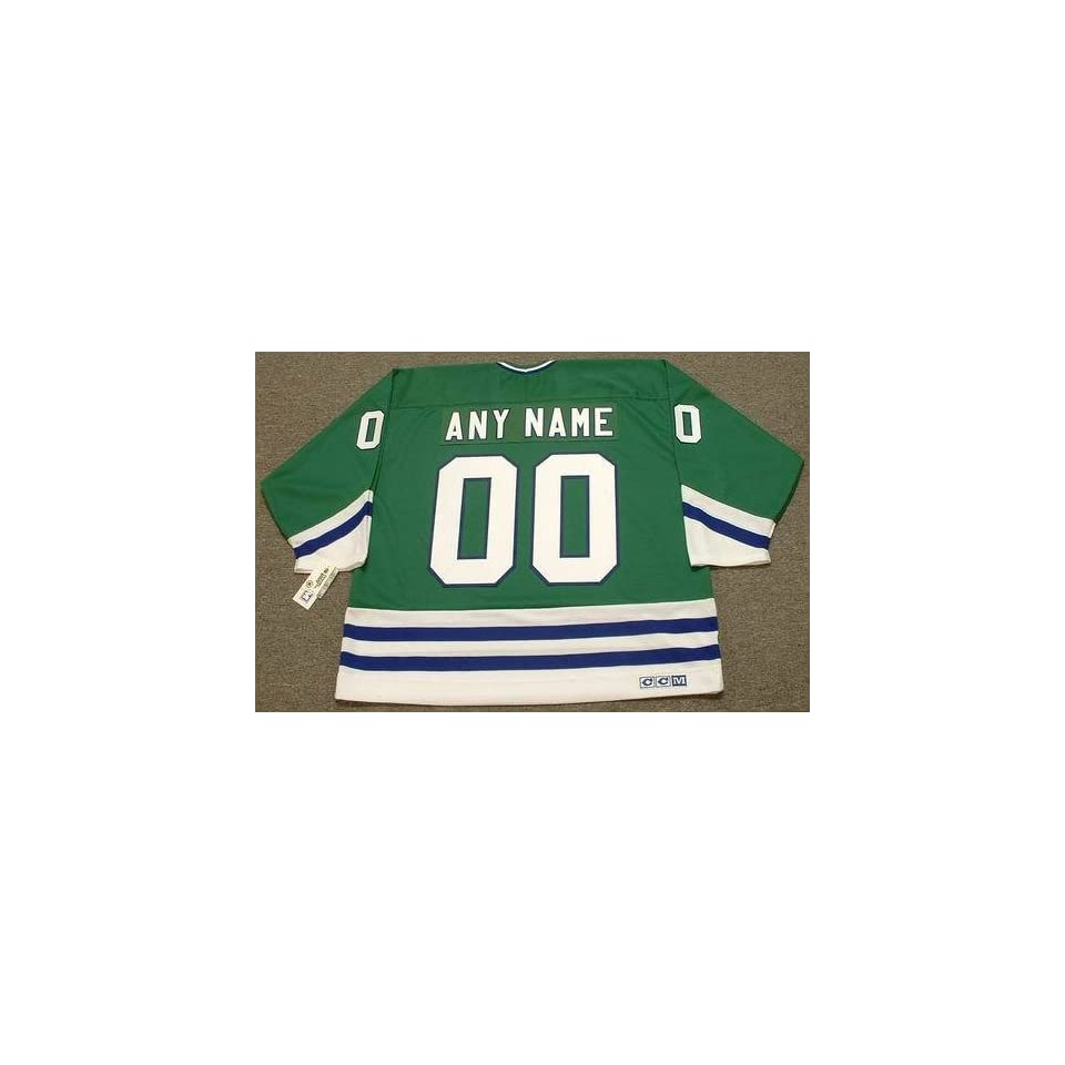 feb0708c4f4 HARTFORD WHALERS 1980s CCM Throwback Away NHL Hockey Jersey Customized with Any  Name & Number(s)