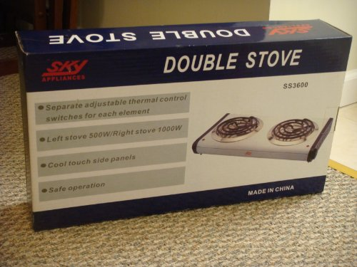 Double Burner Electric Stove front-622330