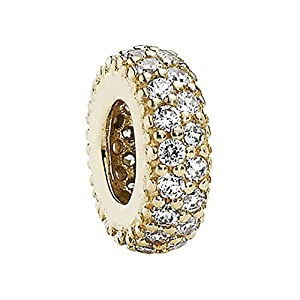 PANDORA Spacer 14K Gold Inspiration Within with Clear CZ 750835CZ