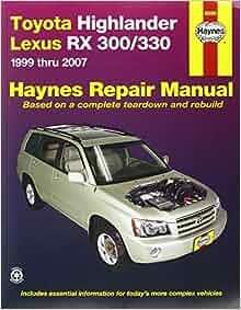 toyota highlander repair manual free download