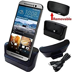 HTC One M8 / M9 Charger, HTC One M8 / M9 Charging Dock, AnoKe USB 3.0 9pin Data Sync Desktop Dock Charger Cradle Pad for HTC M8 / HTC M9 (Dock HTC M8/M9)